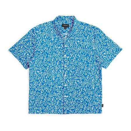 Brixton Lovitz S/S Shirt - Blue/White