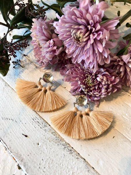 Ora-C Odrey Earrings - Silver/Almond