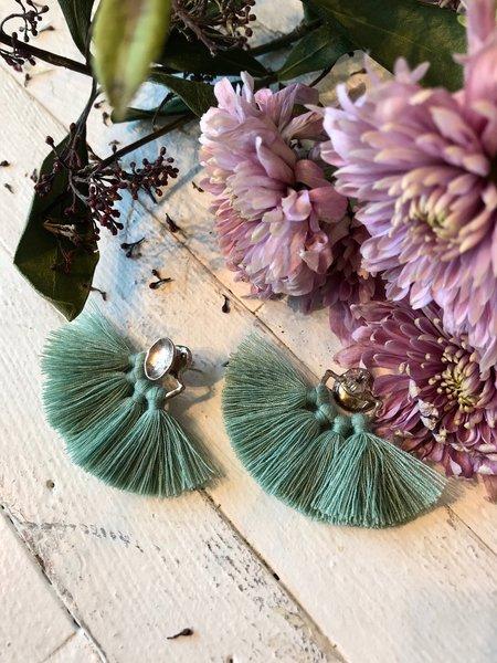 Ora-C Odrey Earrings - Silver/Sage