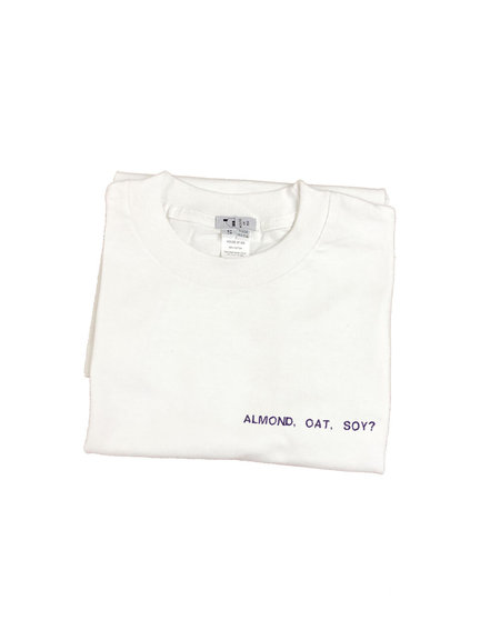 House of 950 embroidery ALMOND, OAT, SOY? tee shirt