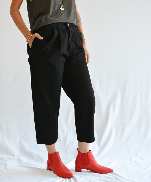 Objects Without Meaning Black Denim Trouser