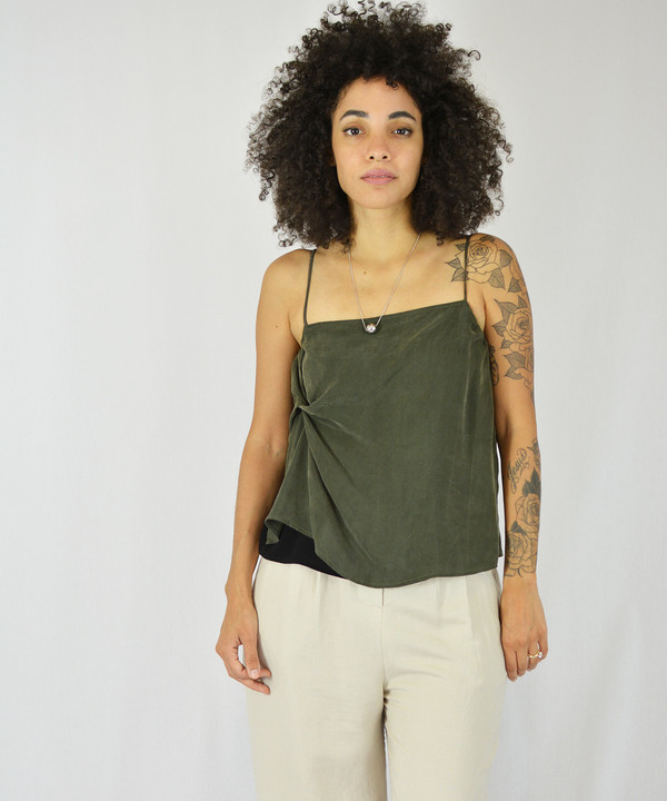 Objects Without Meaning Olive Twist Tank
