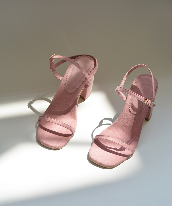 Rafa The Simple Sandal in Peony