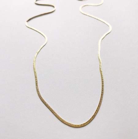 Pegs Hardware Herringbone Chain Necklace 18 Gold
