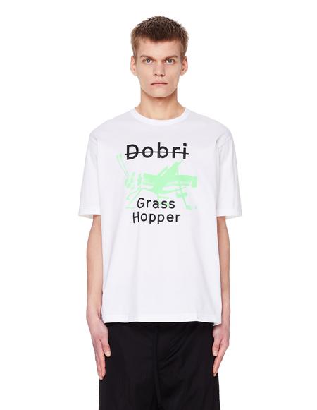Junya Watanabe White Cotton Dobri Printed T-Shirt