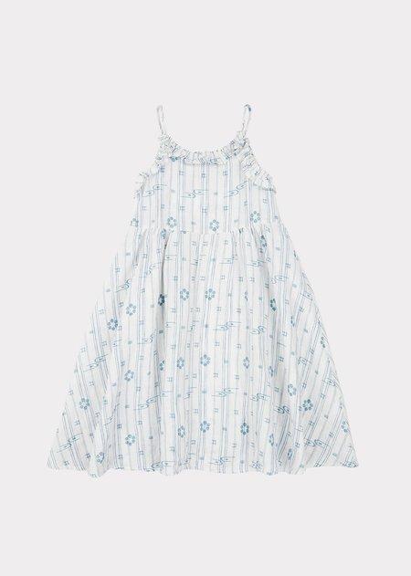 Kids Caramel Greenwich Dress - Vapour Blue