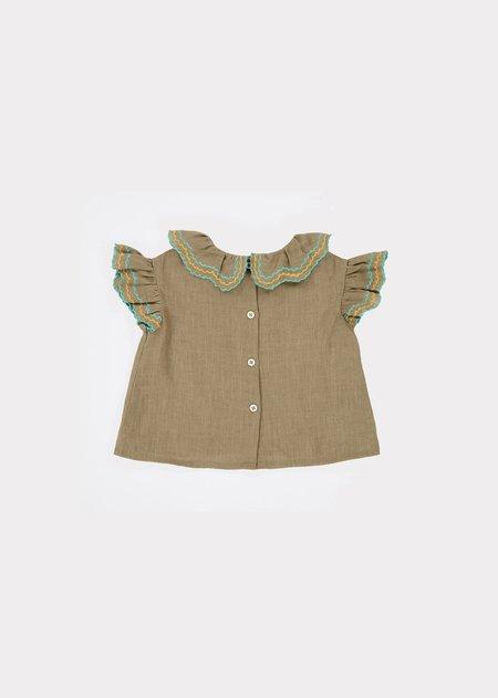 Kids Caramel Hammersmith Baby Top - Sage Green