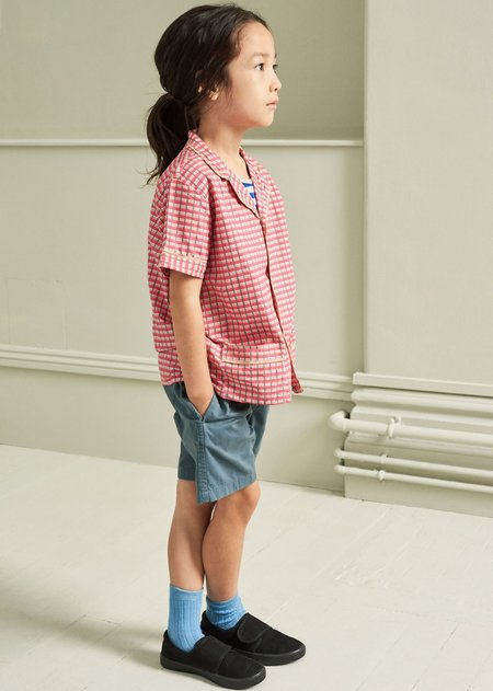 Kids Caramel Holborn Shirt - Red Painted Check