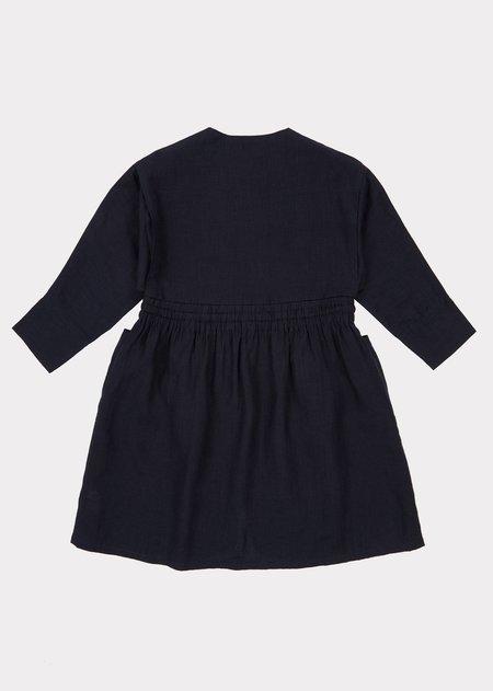 Kids Caramel Paddington Dress - Dark Navy