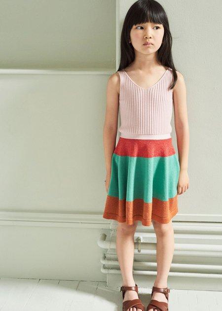 Kids Caramel Redchurch Knitted Dress - Multi Coloured
