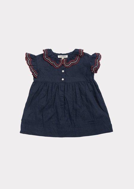 Kids Caramel Sloane Square Baby Dress - Dark Navy