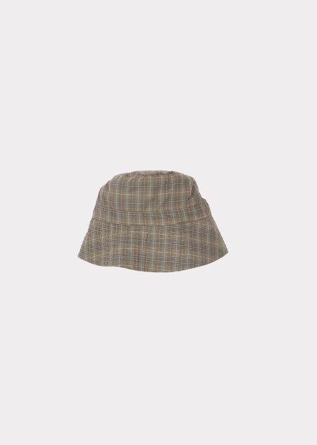 Kids Caramel Wembley Baby Hat - Check Grey