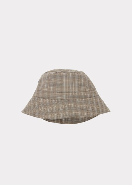 Kids Caramel Wembley Hat - Check Grey