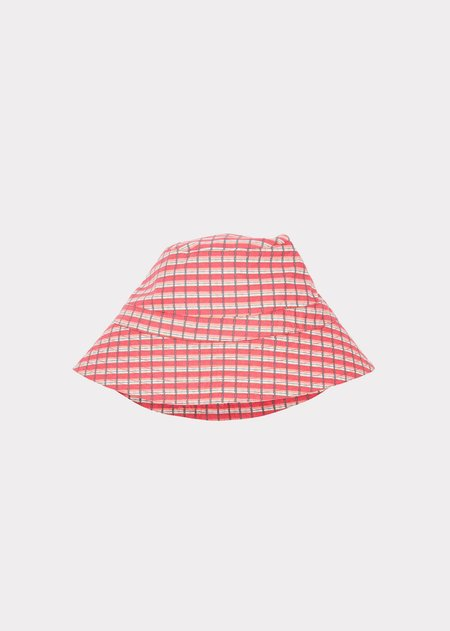 Kids Caramel Wembley Hat - Red Painted Check