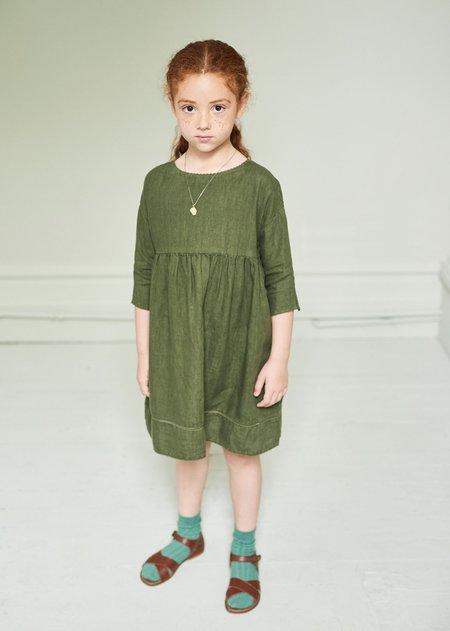 Kids Caramel Wimbledon Dress - Army Green
