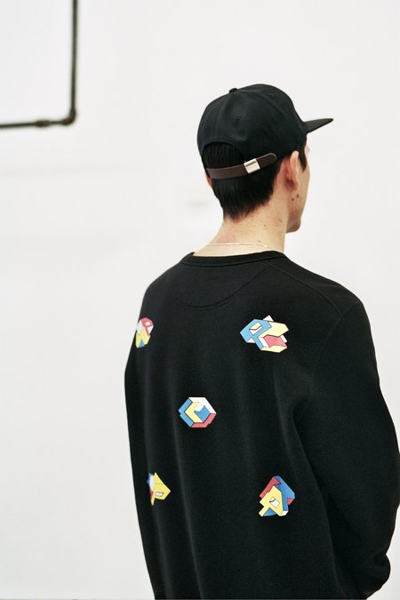 Pop Trading Company Delta Crewneck Sweatshirt Black