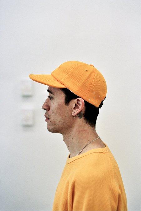 Pop Trading Company Flexfoam 6 Panel Hat Burnt Yellow Diamond