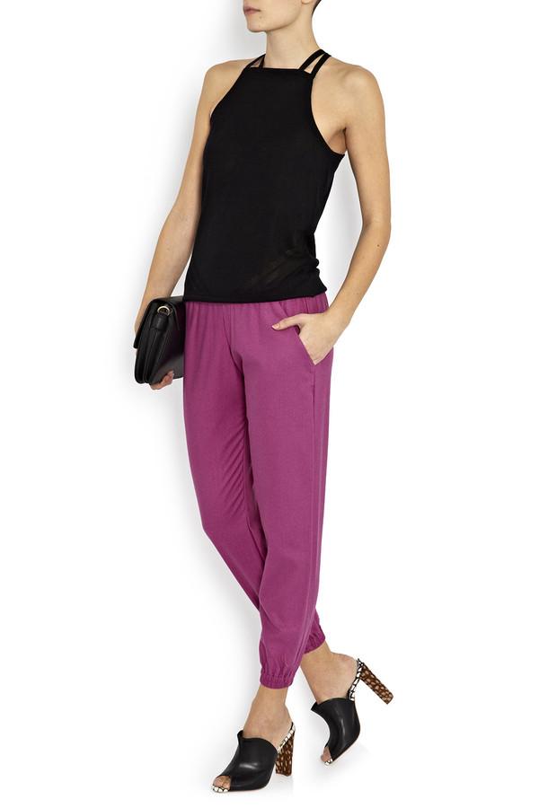 Heidi Merrick - Pink Silk 'Torrey' Joggers