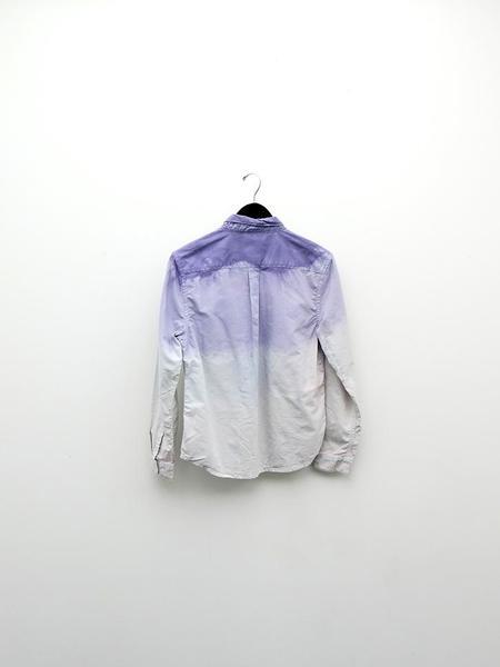 Audrey Louise Reynolds Organic Cotton Oxford Button Down Shirt - Purple Fade