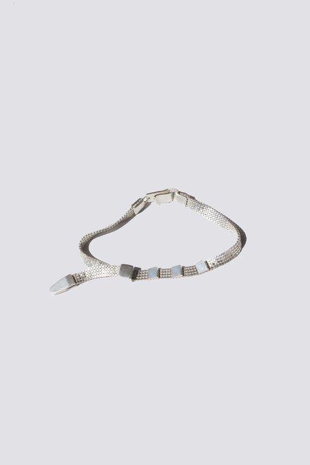 Knobbly Studio Silver Zip Tie Bracelet - Solid sterling silver