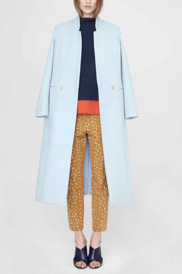 Apiece Apart - Powder Blue Esta Double-Breasted Coat