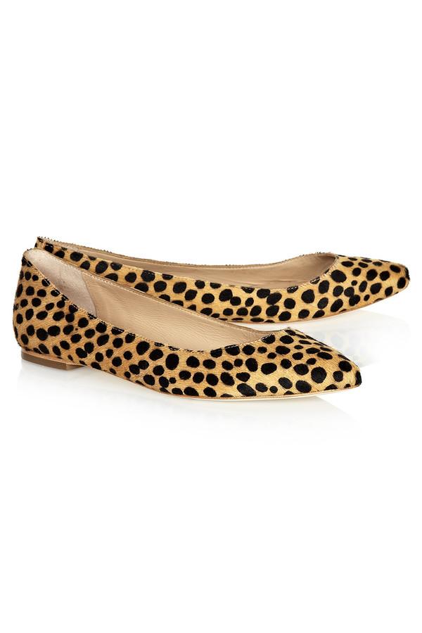 Loeffler Randall - Quinnie Cheetah Haircalf Flat Pump