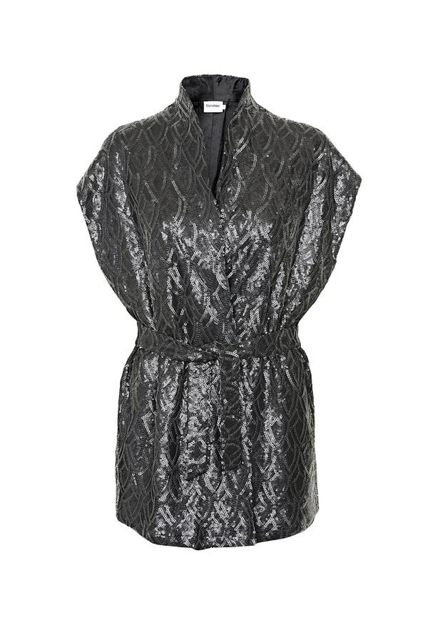 Gestuz - Rags Black Sequin Kimono