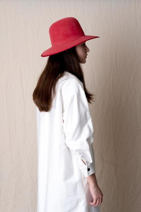 Brookes Boswell Violetto Hat in Velour Felt - Rose