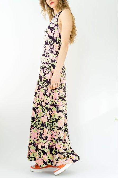 Vintage Backtalk PDX Velvet Halter Dress - Floral
