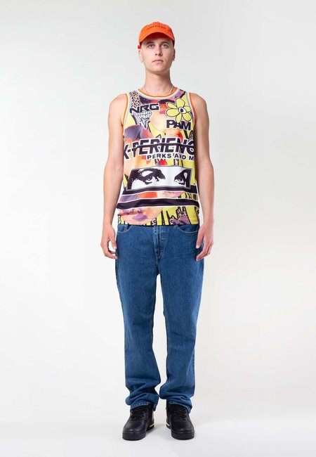 Perks and Mini Red Planet Basketball Singlet - earth