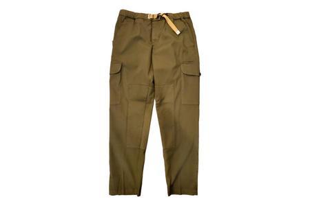 White Sand 88 Elastic Waist Cotton Blend Cargo Pants - green