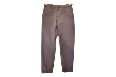 White Sand 88 Elastic Waist Twill Pants - Grey