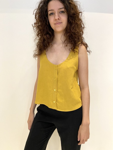 Eve Gravel BELLEVUE BUTTON FRONT TANK - YELLOW