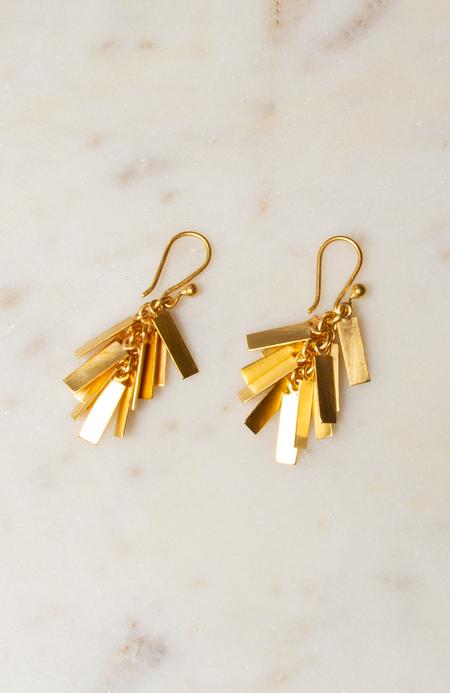 Jane Diaz NY Rectangle Cluster Drop Earrings