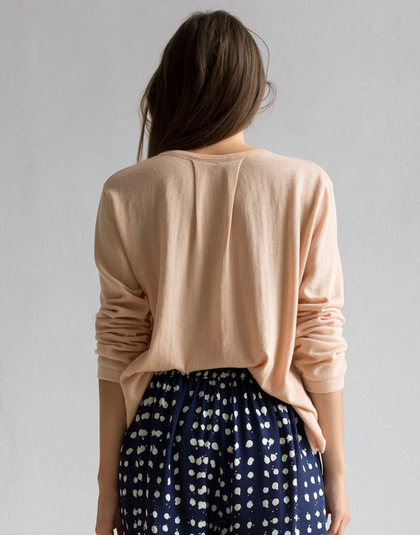 Rodebjer - Soft Pink Cotton Sweater