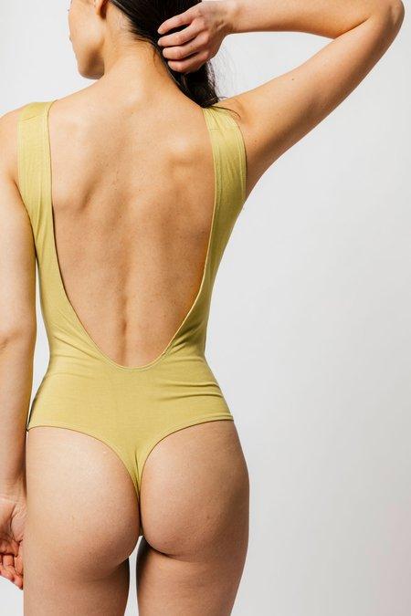Sample Backless Thong Bodysuit - Matcha