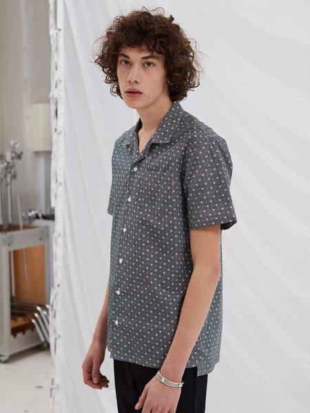 Libertine Libertine Cave Short Sleeve shirt - navy tiles
