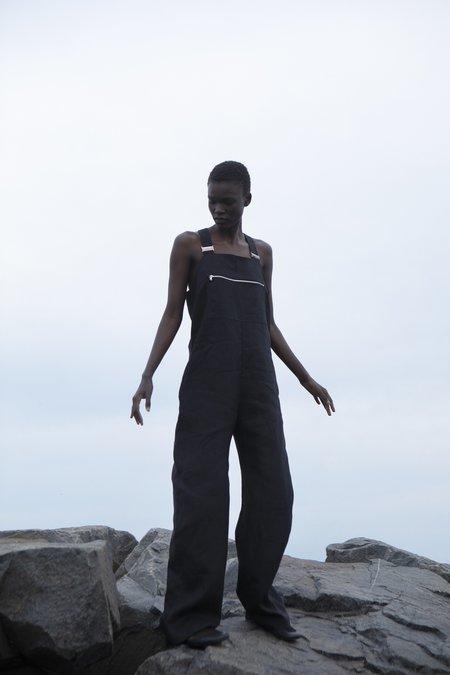 Nomia Overall jumpsuit - Black Linen