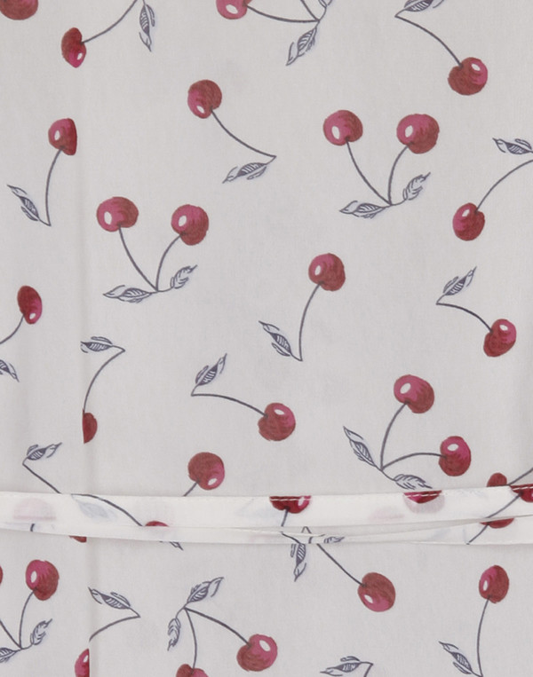 Rodebjer - White Anta Top with Silver Cherry Print
