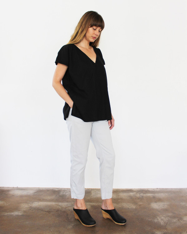 esby AVERY TUNIC TOP - BLACK
