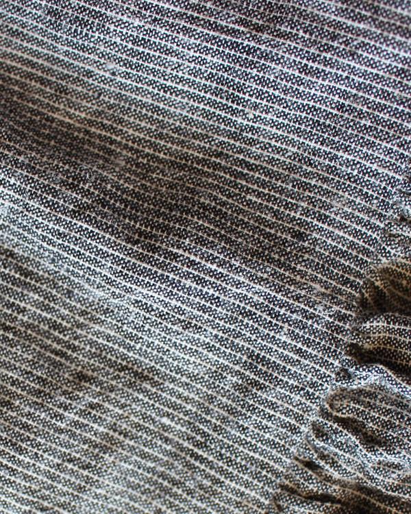 Esby Willow Babydoll Dress - Grey Stripe