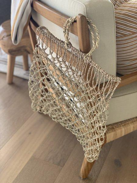 Domecíl Color Block Woven Pilwas Tote Bag