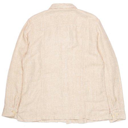 Corridor Overshirt - Natural Linen Herringbone
