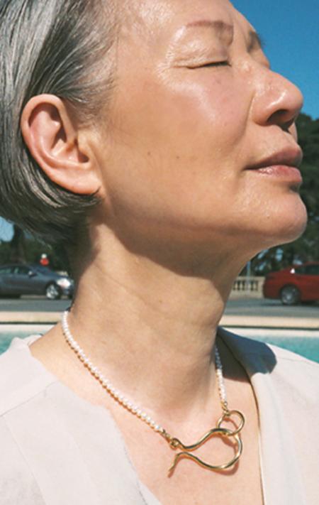 Beatriz Palacios Short Pearl Necklace