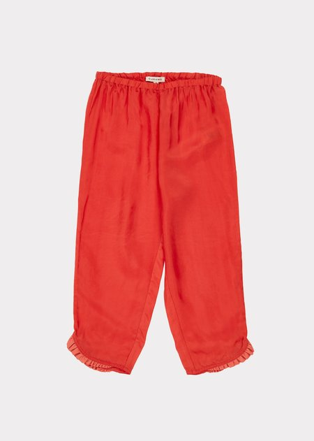 KIDS Caramel Tamarisk Trousers - Tangerine