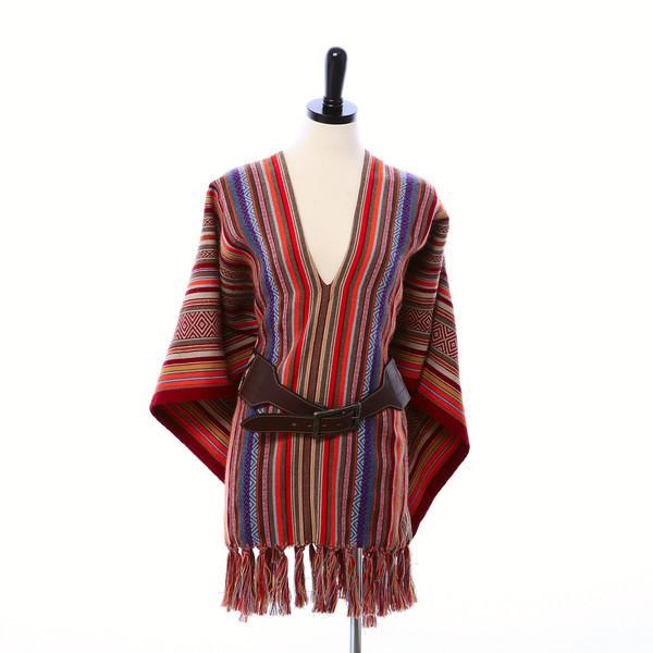 Stick & Ball Blanket Stripe Poncho
