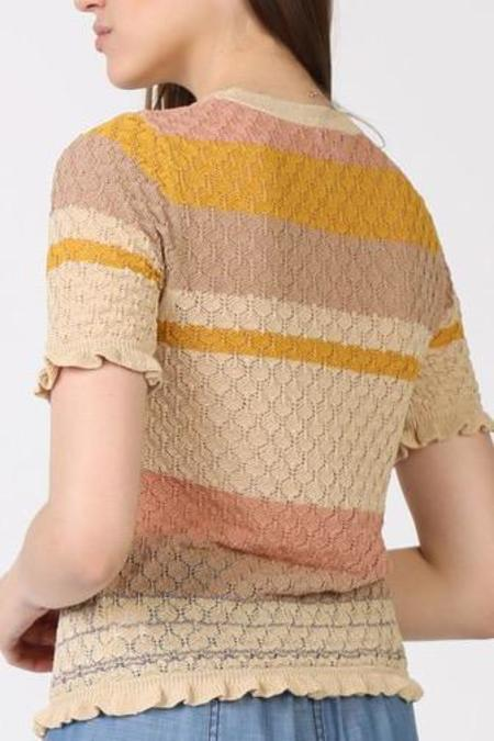 Mabel and Moss Tara Short Sleeve Sweater - Multi Stripe