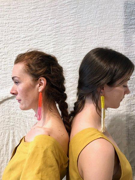 Salihah Moore Zadi Earrings - 14kt gold fill/Red/Pink