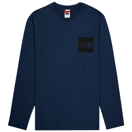 The North Face long sleeve fine tee - Blue Wing Teal