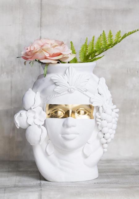 December Thieves Ceci Ceramic Head Vase - White